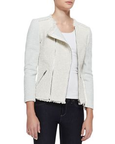 Bicolor Tweed Combo Jacket by Rebecca Taylor at Bergdorf Goodman.