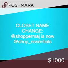 💗NEW CLOSET NAME 💗 Please Note: @shoppermaj is now: @shop_essentials. Xoxo, Melissa 💕💕💕 Other