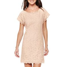 $29.99- Lace Shift Dress - jcpenney