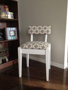 Custom Re-Upholstered Retro Style Chair