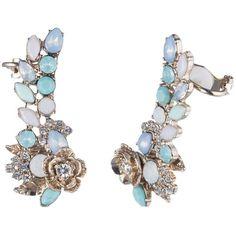 Marchesa Ear Crawler Earrings (305 PEN) ❤ liked on Polyvore featuring jewelry, earrings, earring jewelry, marchesa jewelry and marchesa