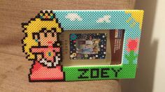 Princess Peach picture frame perler beads by MeltyCreations