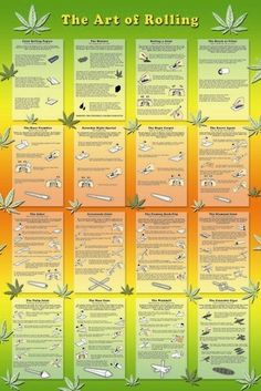 Art Of Rolling 420 Marijuana Weed Photography RARE Poster Print Awesome