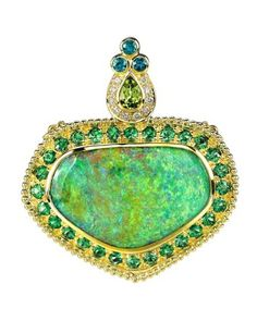 Opal pendant by Paula Crevoshay