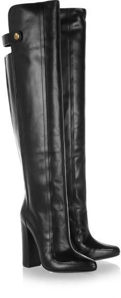 Kolfinna leather knee boots by Alexander Wang Leather High Heel Boots, Black Leather Boots, Knee High Boots, Heeled Boots, High Heels, Leather Jacket, Stylish Boots, Designer Boots, Boots For Sale
