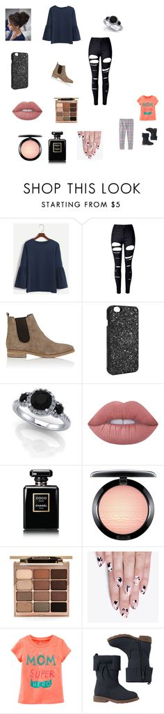 """Finishing touches to the house with Holly"" by bellzellz ❤ liked on Polyvore featuring WithChic, Barneys New York, Victoria's Secret, Lime Crime, Chanel, MAC Cosmetics, Stila, alfa.K and Carter's"