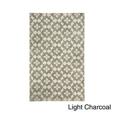 Blossom Hand Knotted Rug (5' x 8') (Light Charcoal), Grey, Size 5' x 8' (Wool, Abstract)
