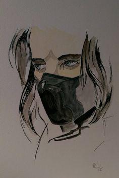 Bucky Barnes, Winter Soldier by midgardart on DeviantArt Avengers Drawings, Avengers Fan Art, Marvel Fan Art, Bff Drawings, Cool Art Drawings, Easy Drawings, Sketch Painting, Watercolor Sketch, Winter Soldier