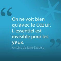 L'essentiel selon Antoine de Saint-Exupéry http://www.decitre.fr/auteur/456675/Antoine+de+Saint+Exupery/