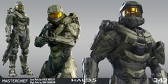 High Poly by Dan Sarkar Techsuit by Kolby Jukes and Sean Binder Low Poly and Textures by Kyle Hefley Master Chief Armor, Halo Master Chief, Halo Game, Halo 5, Halo Tattoo, Personal Armor, 343 Industries, Grand Admiral Thrawn, Halo Spartan