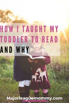 I taught my 2 year old how to read and it wasn't stressful at all! Here's How I did it...