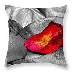 """Fallen Rose Petals by Kaye Menner Throw Pillow 14"""" x 14"""""""