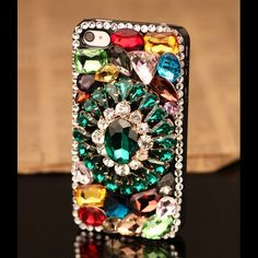 Gem Sparkly Garland Hard Back Mobile phone Case Cover bling rhinestone Case Cover for iPhone 4 5 6 6 plus Samsung galaxy 3 4 3d Iphone Cases, Bling Phone Cases, Iphone 5, Iphone 6 Plus Case, Mobile Phone Cases, Phone Covers, Tablet Cover, Cute Cases, Rhinestones