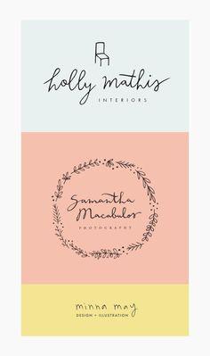minna may   logo design   branding   feminine, pretty, girly, simple, minimal