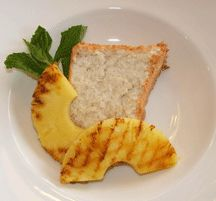Recipes - Cardamom angel food cake with grilled pineapple - - Heart and Stroke Foundation of Ontario Heart Healthy Desserts, Healthier Desserts, Healthy Meal Prep, Healthy Food, Heart And Stroke Foundation, Angel Food Cake, Ontario, Great Recipes, Pineapple