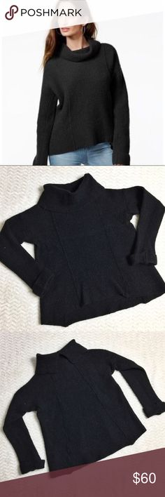 Free People Sidewinder sweater SZ S Free People Sidewinder sweater SZ S in Black! This sweater is perfect for winter but FITS LIKE AN XS! It was bought from a previous posher that shrunk the sweater! Free People Sweaters Cowl & Turtlenecks