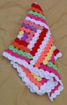 Free Crochet Baby Blanket Patterns | BABY BLANKET CROCHETED FREE PATTERN - Crochet — Learn How to Crochet ✿Teresa Restegui http://www.pinterest.com/teretegui/✿: