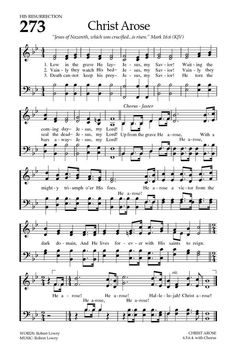 Baptist Hymnal 2008 273. Low in the grave He lay - Hymnary.org