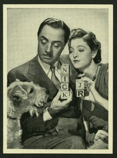 William Powell, Myrna Loy and ASTA : The Thin Man (and the 5 sequels).