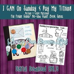 Sunday is a Special Day AND I Can Pay My Tithing (File Folder Game/ No-Sew Quiet Book Series)
