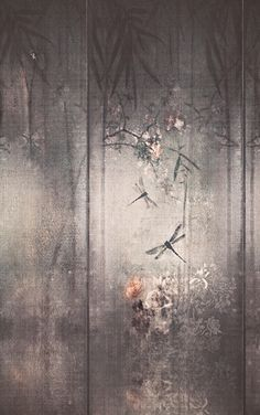 Wallpaper with floral pattern LIBELLULA Contemporary Wallpaper 2016 Collection By Wall&decò design Lorenzo De Grandis Wallpaper Wall, Wallpaper 2016, Chinoiserie Wallpaper, Deco Nature, Wall Murals, Wall Art, Contemporary Wallpaper, Contemporary Bedroom, Contemporary Art
