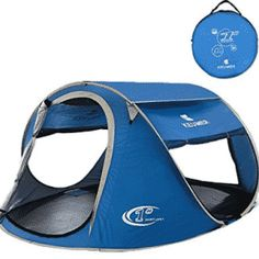 Pop Up Tent -Automatic and Instant Setup-Water Resistent and Anti-UV for Person for Hiking and Camping Pop Up Camping Tent, Pop Up Tent, Large Tent, Tent Reviews, Festival Camping, Camping Hacks, Outdoor Gear, Hiking, Water