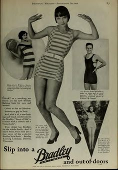 Bradley Bathing suits with Louise Brooks, Dorothy Dwan, Nick Stewart and Dorothy Gulliver