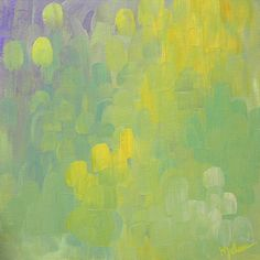 "Saatchi Art Artist: Kim Johnson; Acrylic 2014 Painting ""Dandelions and Lavender"""