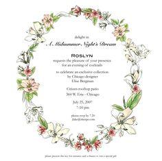 midsummer night's dream wedding invitations - Google Search