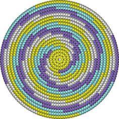 Tapestry Crochet Patterns, Crochet Mandala Pattern, Crochet Stitches Patterns, Beading Patterns, Mochila Crochet, Gilet Crochet, Knit Crochet, Crochet Round, Crochet Home