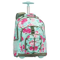 0275c4a31e66 Gear-Up Garden Party Floral Rolling Backpack Tween Backpacks