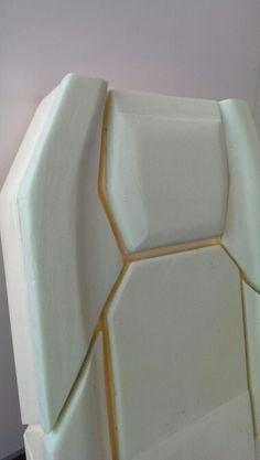 Foam prototype of a bus seat