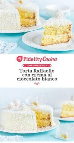 Torta Raffaello con crema al cioccolato bianco