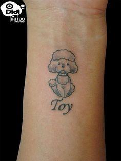 toy poodle tattoos   poodle - tatuagem por didi tattoo .. homenagem ao toy !! mais ...