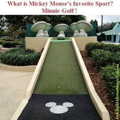 Silly Disney Joke: Q: What is Mickey Mouse's favorite sport? A: Minnie-golf! ---To receive a list of 45 great #Disney World freebies see: http://www.buildabettermousetrip.com/15FreeThings.php #Disneyworld #MickeyMouse