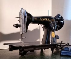 A classic Singer 15-91 vintage sewing machine