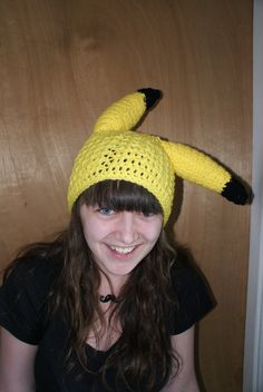 Hey, I found this really awesome Etsy listing at https://www.etsy.com/listing/178306804/pikachu-beanie-crochet