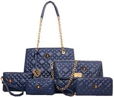 ASL Women FivePieces Fashion Simplicity Wallet Shoulder Bag OS Blue * Check this awesome product by going to the link at the image.Note:It is affiliate link to Amazon.