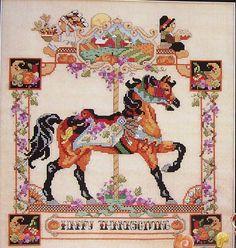 Donna Kooler Carousel Horses In by ThePamperedStitcher on Etsy