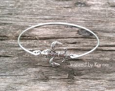 Fleur De Lis Bangle Bracelet - $14.99 - Handmade Jewelry, Crafts and Unique Gifts by Inspired by Karma