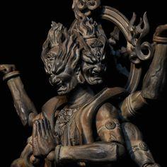 Honest Myth:Buddhist- Asura and Indra Japanese Prints, Japanese Art, Indra And Ashura, Asian Sculptures, Japanese Mythology, China Art, Japanese Culture, Dark Art, Sculpture Art
