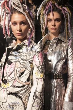 Behind-the-Scenes at the Marc Jacobs Spring '17 show with Bella Hadid and Kendall Jenner