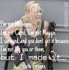 """Beth Greene to Daryl Dixon at 4x12 """"Still"""" 