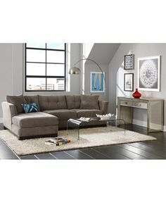 Elliot Fabric Sectional Living Room Furniture Collection Created