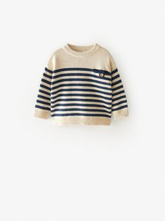 PULL À RAYURES ET BANDES | ZARA France Zara Kids, Checked Trousers, Tiger T Shirt, Zara Fashion, Fashion Kids, Knit Leggings, Boys Sweaters, Pullover, Knit Jacket