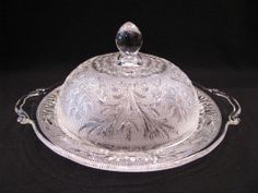 Anchor Hocking Sandwich Glass Round Covered by JuleesTreasures, $39.99