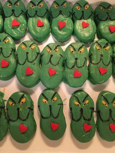 Grinch nutter butter cookies