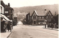 Otley near Leeds - West Yorkshire - England - Kirkgate &  Station Road - 1935  My 7th great Grandfather, Dr. Israel Taylor, was born here in 1660, then came to Pennsylvania.