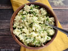 Dress up basic mashed potatoes with a little spinach, feta, and garlic. A beautiful and delicious side that can go with just about any meal.
