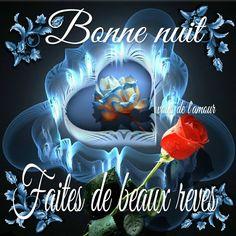 Bonne nuit, Faites de beaux rêves #bonnenuit beaux reves coeur fleurs roses sommeil